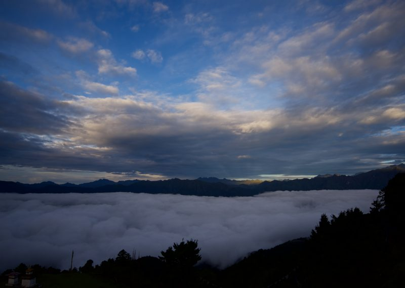 Bhutan above clouds